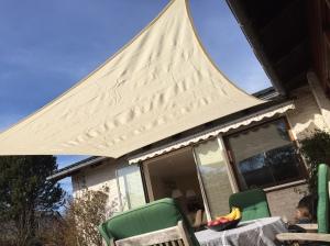 3,6x3,6 meter hvidt budget solsejl